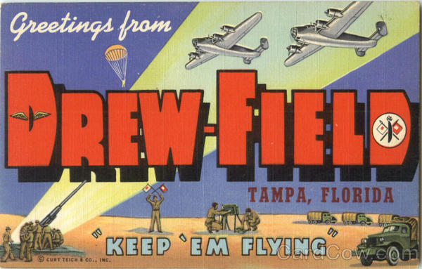 Greetings From Drew-Field Tampa Florida Large Letter