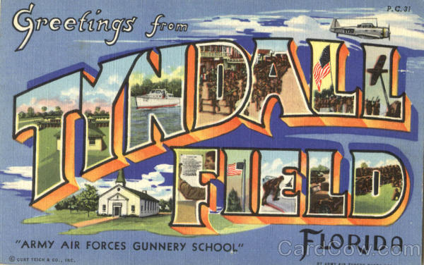 Greetings From Tyndall Field Florida Large Letter