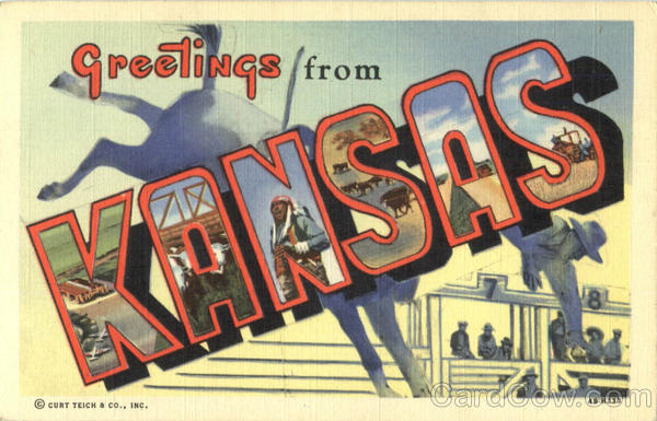 Greetings From Kansas Large Letter