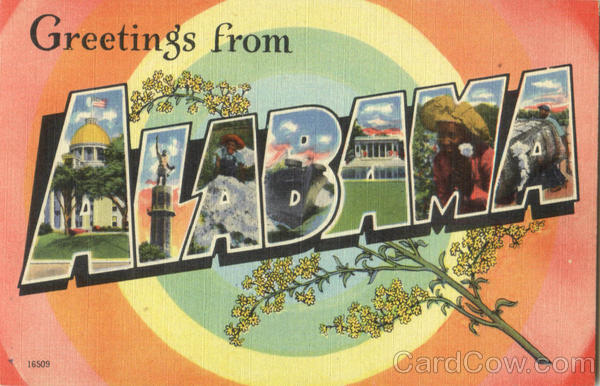 Greetings From Alabama Large Letter