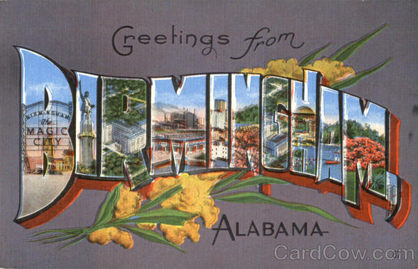Greetings From Birmingham Alabama Large Letter