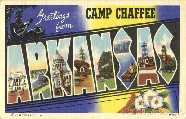 Greetings From Arkansas Camp Chaffee Large Letter