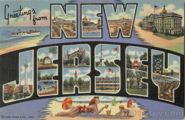 Greetings From New Jersey Large Letter