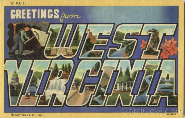 Greetings From West Virginia Large Letter