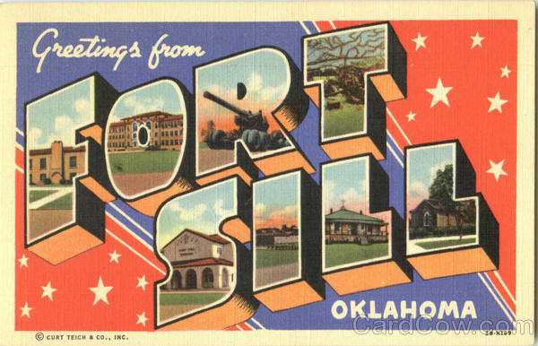 Greetings From Fort Sill Oklahoma Large Letter