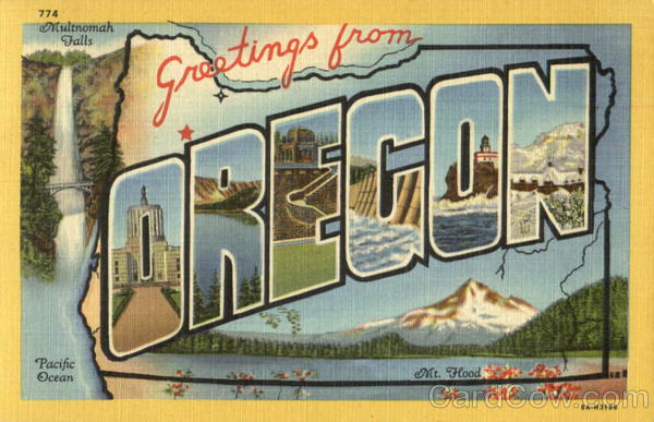 Greetings From Oregon Large Letter