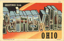 Greetings From Painesville Postcard