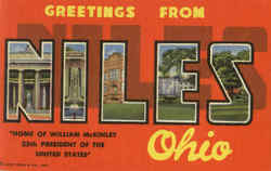 Greetings From Niles Postcard