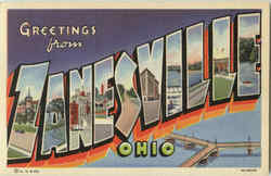 Greetings From Zanesville Postcard