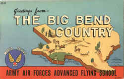 Greetings From The Big Bend Country Army Air Forces Advanced Flying School