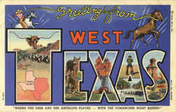 Greetings From West Texas Postcard