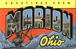 Greetings From Marion Postcard