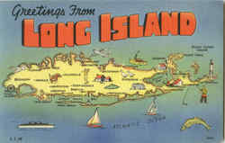 Greetings From Long Island Postcard