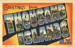 Greetings From Thousand Islands Postcard