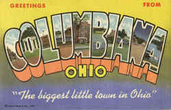 Greetings From Columbiana Postcard