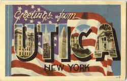 Greetings From Utica Postcard