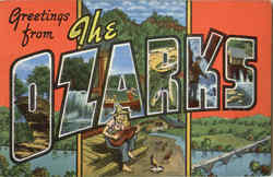 Greetings From The Ozarks Postcard
