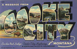A Message From Cooke City Postcard