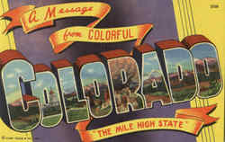A Message From Colorful Colorado Postcard