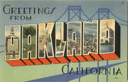 Greetings From Oakland Postcard
