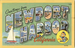 Greetings From Newport Harbor Postcard