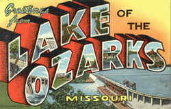 Greetings From Lake Of The Ozarks Postcard