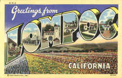 Greetings From Lompoc Postcard