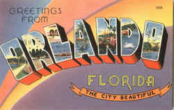 Greetings From Orlando Postcard