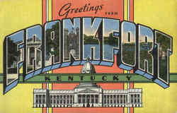 Greetings From Frankfort Postcard