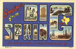Greetings From Big Springs Postcard