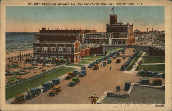 Bird's Eye View Showing Pavilion and Convention Hall Asbury Park New Jersey