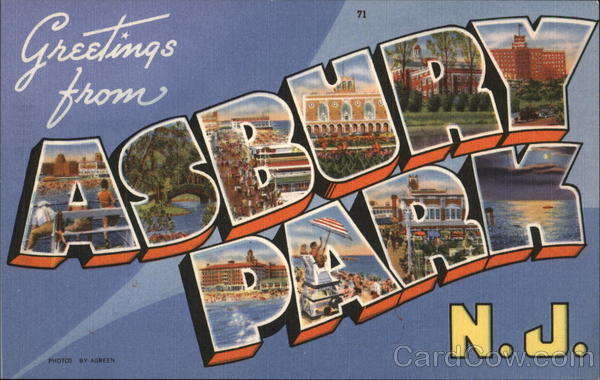 Greetings from Asbury Park, N. J. New Jersey Large Letter