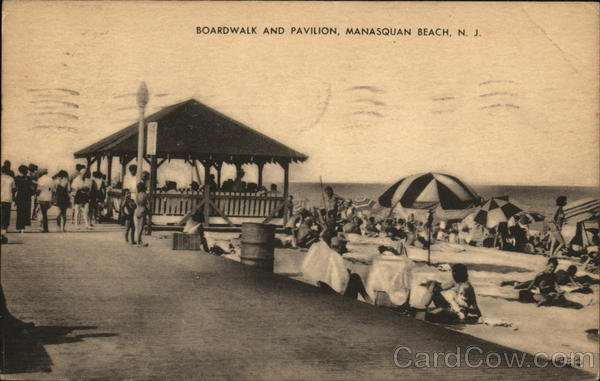 Boardwalk and Pavilion, Manasquan Beach New Jersey