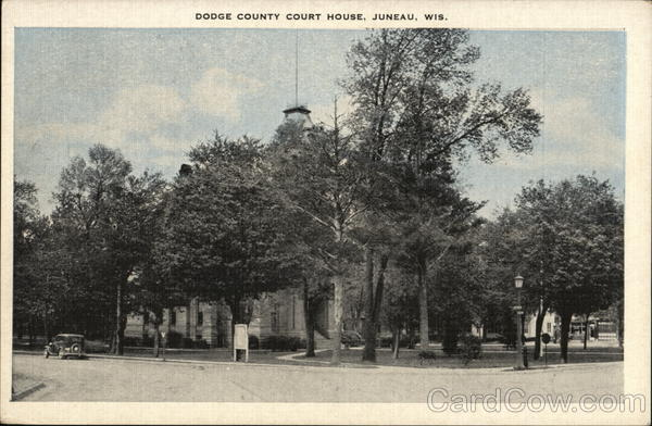 dodge county court house juneau wi postcard. Cars Review. Best American Auto & Cars Review