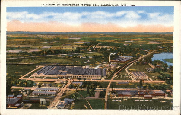 Airview of Chevrolet Motors Co. Janesville Wisconsin