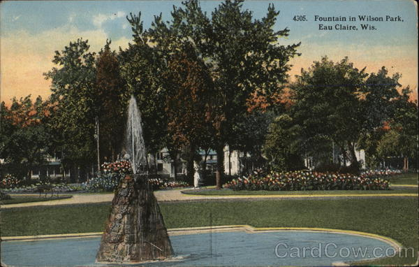 Fountain in Wilson Park Eau Claire Wisconsin
