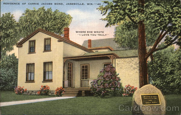Residence of Carrie Jacobs Bond Janesville Wisconsin