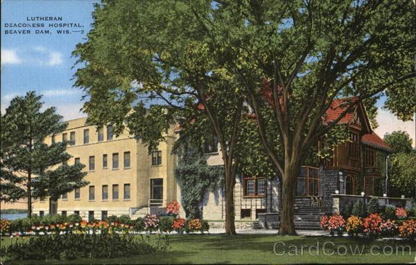 Beaver County Dodge >> Lutheran Deaconess Hospital Beaver Dam, WI Postcard