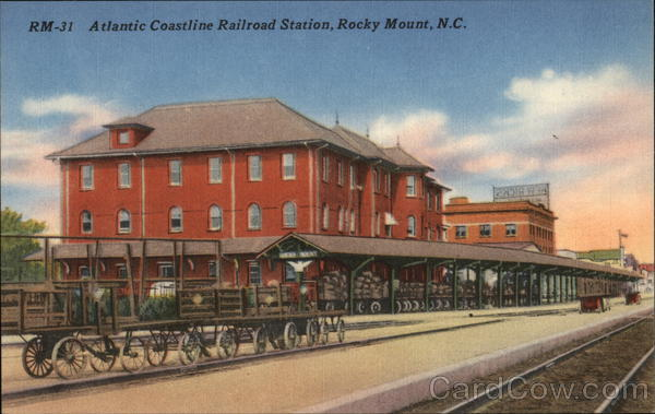 Atlantic Coastline Railroad Station Rocky Mount North Carolina