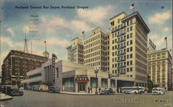 Portland Central Bus Depot Oregon