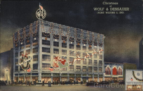 Christmas at Wolf & Dessauer Fort Wayne Indiana