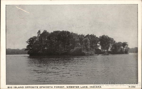 Big Island Opposite Epworth Forest, Webster Lake North Webster Indiana