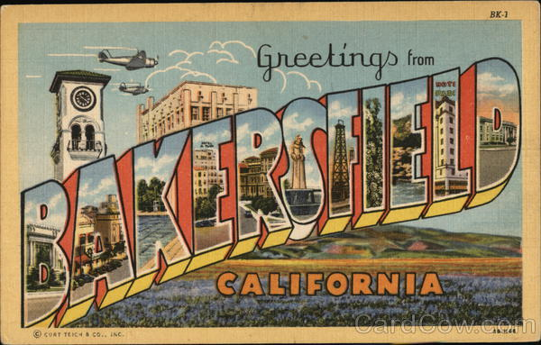 Greetings from Bakersfield California Large Letter
