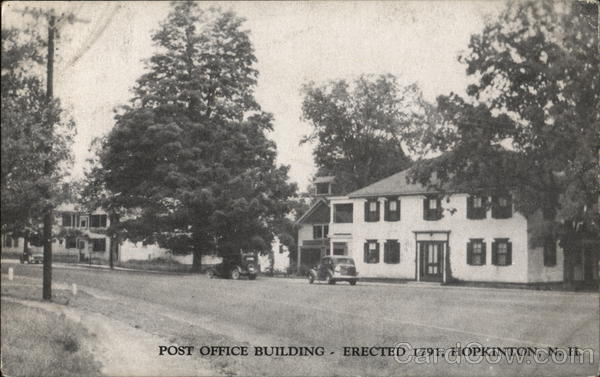 Post Office Building - Erected 1791 Hopkinton New Hampshire
