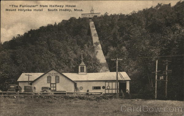 The Funicular from Halfway House, Mount Holyoke Hotel South Hadley Massachusetts