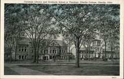Carnegie Library and Graduate School of Theology, Oberlin College Postcard