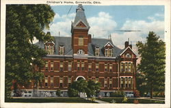 Children's Home Greenville, OH Postcard