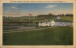 Park Showing Veterans' Memorial Building & Picnic Pavilion