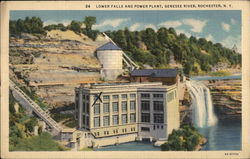 Lower Falls and Power Plant, Genesee River