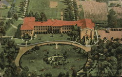 Aerial View of St. Francis Monastery and College Postcard